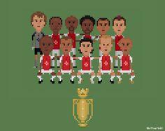 Arsenal Invincibles (squad) Framed Art Print by Football - Vector Black - MEDIUM Arsenal Football, Arsenal Fc, Fa Cup, 8 Bit, Premier League, Framed Art Prints, Squad, Soccer, Sports