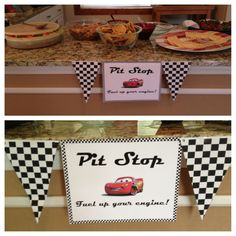 Disney cars party food table