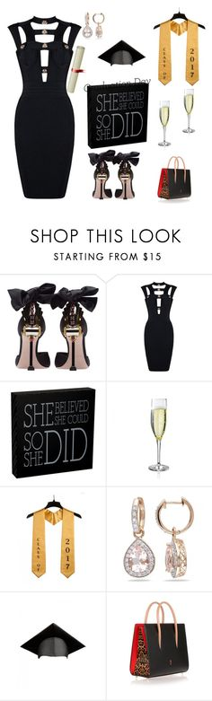 """""""Happy Graduation,,,"""" by everything4love ❤ liked on Polyvore featuring Miu Miu, Allurez and Christian Louboutin"""