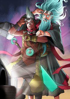 Ekko and Zilean League Of Legends Fan Art | art-of-lol.com