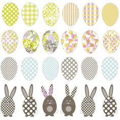 Spagat: free egg n bunny printable
