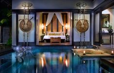Pool Villa at night. Anantara Phuket Villas, Thailand. © Anantara Hotels, Resorts & Spa