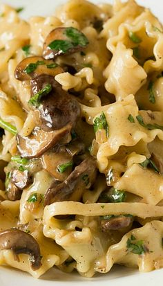 Creamy Mushroom-Fontina Pasta (KM: This is truly delish. I added shitake mushrooms and used pappardelle pasta with of the olive oil and butter. I think truffle butter would be a good addition. I Love Food, Good Food, Yummy Food, Tasty, Delicious Dishes, Vegetarian Recipes, Cooking Recipes, Healthy Recipes, Cooking Games