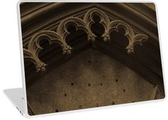 Gothic Arch Laptop Skin by Anastasia Shemetova #style #building #ruined #retro #old #arch #architecture #gothic #atmosphere #sepia #vintage #ornament #broken #tomb #shrine #petersburg #saint #chapel #vault #antique #medieval #ancient #photo #photography #redbubble