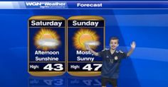 Second grader Charlie Hale gives the weather report on WGN9 in Chicago. lol so cute!!
