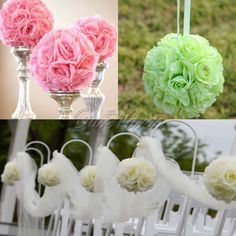 Wholesale Stylish And Cheap Brand Many Colors Becautiful Artificial Silk Flower Rose Balls Wedding Centerpiece Pomander Bouquet Party Decorations Hot Sale | Dhgate.Com