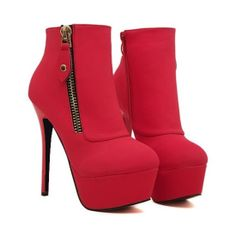 New Arrival Round Toe Side Zipper Stiletto Heel Ankle Boots,Save up to 90% from Nov 25 at #BagsQ.