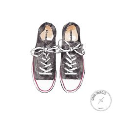 Good Objects - Converse sneakers #goodobjects #watercolor #illustration #affiliate
