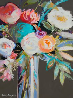 paintings by <br />erin fitzhugh gregory Art And Illustration, Illustrations, Art Floral, Erin Gregory, Paintings I Love, Ink Drawings, Abstract Flowers, Pattern Art, Painting Inspiration