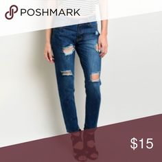 Denim Skinny Jeans Denim skinny jeans in blue, button closure and zip fly. Made from 98% COTTON 2% ELASTANE. Jeans
