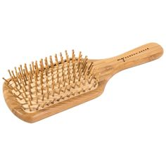Eco-friendly bamboo hair brush made with natural rubber and sustainable bamboo. This hair brush is fully biodegradable and plastic-free - even the pins are bamboo! Bamboo Hair Products, Eco Products, Sustainable Products, Sustainable Living, Design Essentials Hair Products, Coconut Bowl, Fast Growing Plants, Glass Spray Bottle, Free Hair