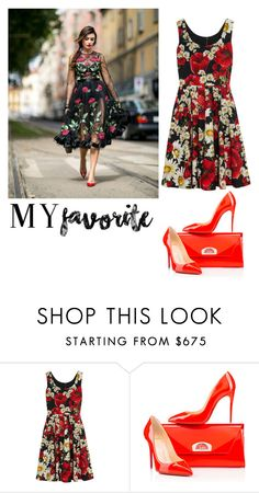 """just it by nana"" by zozanazozane ❤ liked on Polyvore featuring Dolce&Gabbana and Christian Louboutin"