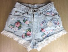 how cute are these high wasted shorts! Diy Crochet And Knitting, Crochet Lace, High Wasted Shorts, Look Con Short, Studded Shorts, Festival Shorts, Cute Shorts, Festival Fashion, Summer Collection