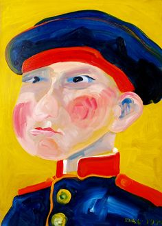 Russian soldier. The Tinder Box. 1814. Oil on cardboard, 49-35, 1974.