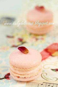 Macaron à la rose