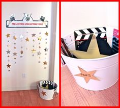 Movie Star Photo Booth for Popcorn and Movie Party.