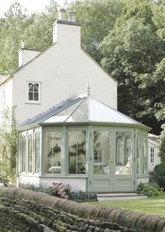 conservatory addition on an english farmhouse