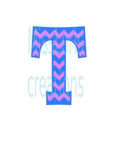 Cheveron Letter monogram  T SVG Cut file  by MissLoriscreativecut