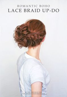 A free-spirited braided messy side bun for any occasion! #hair #beauty #boho #tutorial