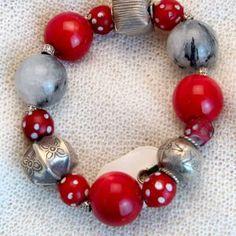 armband_01_018 Beaded Bracelets, Jewelry, Fashion, Semi Precious Beads, Handmade, Wristlets, Schmuck, Gifts, Moda