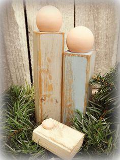 Primitive Wooden Nativity Scene FREE PRIORITY by daddytellmeastory, $13.99