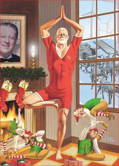 Santa yogini #festive #christmas #yoga #funny