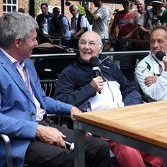 Legendary F1 commentator Murray Walker speaks at the Goodwood Festival of Speed