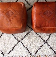 """Camel Square Moroccan Ottomans / Poufs """"Free Shipping!"""""""