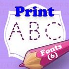 This collection of 6 PRINT or MANUSCRIPT fonts is specially designed for teachers, so as they can easily create hundreds of handwriting, spelling