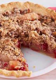... crust, the pie is topped with a crumbly cinnamon-walnut streusel. More