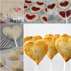 How to DIY Cherry Heart Sweet Pie Pops | iCreativeIdeas.com Like Us on Facebook ==> https://www.facebook.com/icreativeideas