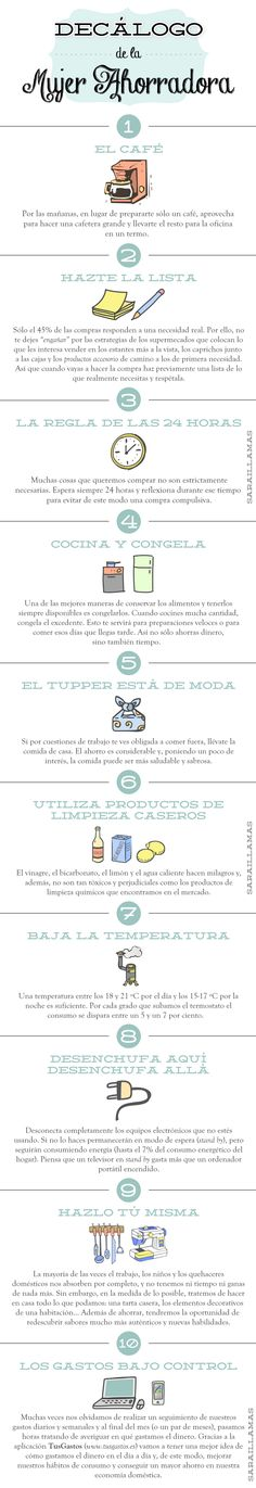"""""""Decálogo de la mujer ahorradora"""" en el Blog de Sarai Llamas http://saraillamas.blogspot.it/2013/09/decalogo-de-la-mujer-ahorradora-la.html"""