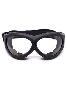 Flat Black Padded Goggles with Clear Lenses   Cyber Rave Burner Goggles