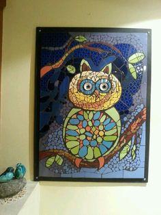 Mosaic Owl by Iris Bello