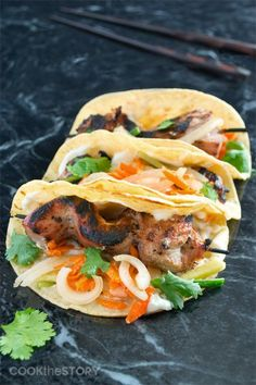 Pin this Bahn Mi Taco Recipe