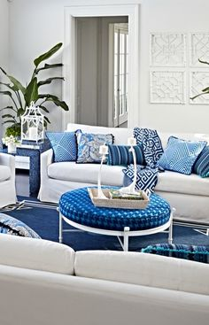 Inside our. Emerson's snowy all-weather slipcovers bring a classic indoor look outside. Deliciously crisp in blue-and-white.    Frontgate: Live Beautifully Outdoors