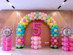 Be a guest at your own event. Because in your dreams, every detail matters! Candy Theme Birthday Party, My Little Pony Birthday Party, Trolls Birthday Party, Birthday Balloon Decorations, Birthday Balloons, Rainbow Birthday, Balloon Columns, Balloon Arch, Deco Ballon