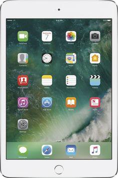 Apple - iPad mini 4 Wi-Fi + Cellular 128GB - Sprint - Silver