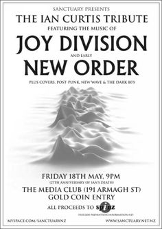 Ian Curtis from Joy Division tribute concert. Rock Posters, Concert Posters, Music Posters, Peter Saville, Ian Curtis, Joy Division, Post Punk, Music Bands, The Rock