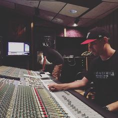 Student and Engineer @pnovak23 setting up for an individual mix session in Studio B! #school #omega #studio