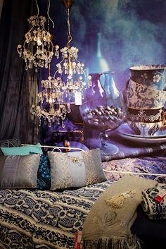Bohemian purple mystical bedroom
