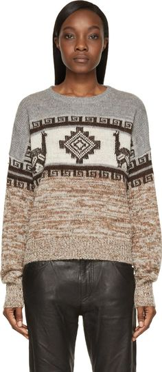 Isabel Marant Etoile - Caramel Peruvian Knit Remington Sweater