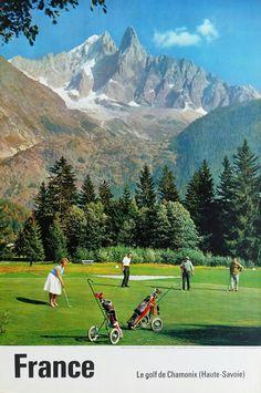 Original+vintage+poster+Le+golf+de+Chamonix+(Haute-Savoie)