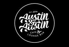 Austin&Austin Cafe & lounge Bar Logotype, Australia Alex Ramon Mas Design www.alexramonmas.com