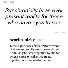 Synchronicity meaning, synchronicity quote