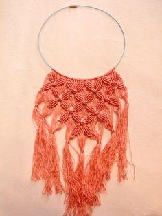 macrame with silk yarn... beautiful work!