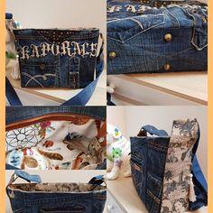 nanou86420 sur Instagram: Réalisation d'un Mambo en jean et cuir Nanousac86420#recyclages#sacotin#