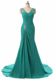 Chiffon Evening Dresses Robe De Soiree Mermaid Pleat #prom #promdress #dress #eveningdress #evening #fashion #love #shopping #art #dress #women #mermaid #SEXY #SexyGirl #PromDresses