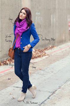 scarf blazer