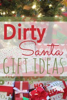 $10 Dirty Santa Gift Exchange Ideas | Santa gifts and Gift